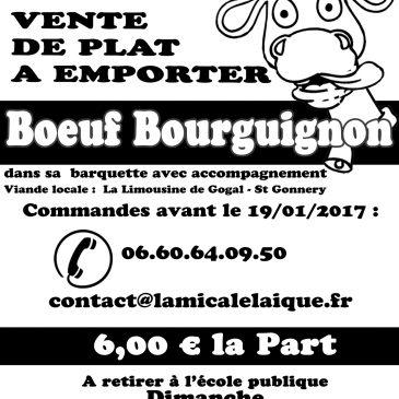 Plat à emporter 2017 – Bœuf bourguignon
